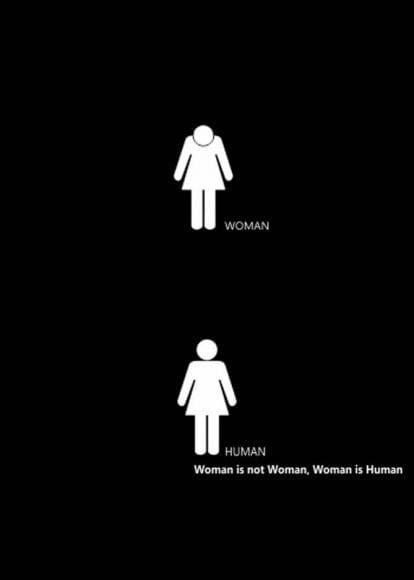 """من فقط """"زن"""" نيستم، """"انسان"""" هم هستم"""
