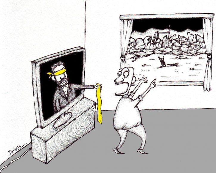 کاریکاتور تازهای از داریوش رمضانی