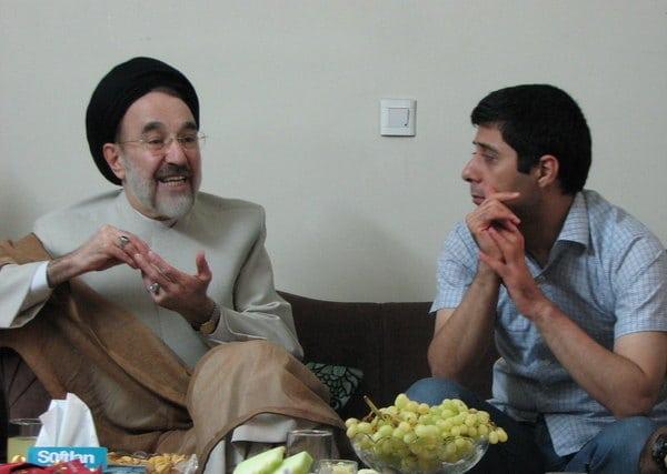 دیدار محمد خاتمی با مسعود باستانی