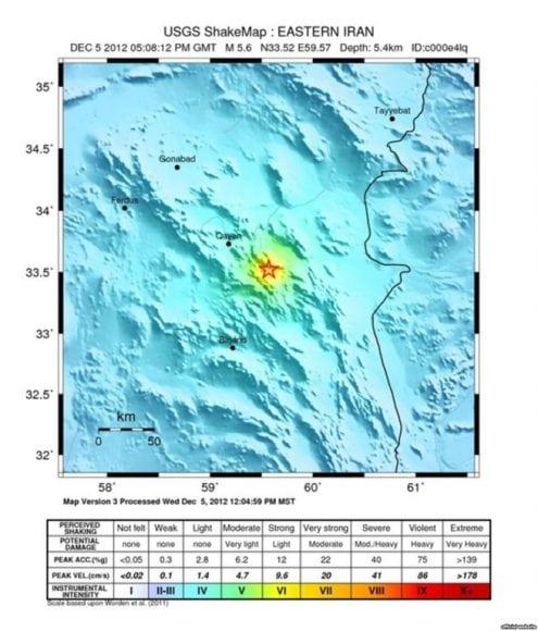زمینلرزه ۵.۵ ریشتری در شرق ایران؛ چندین زخمی و کشته
