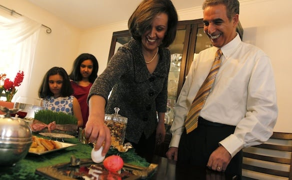 An Iranian American family celebrates Nowruz. Photo courtesy of PBS