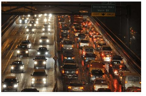 ونکوور دارای بدترین ترافیک در کانادا و به بدی لوس انجلس است