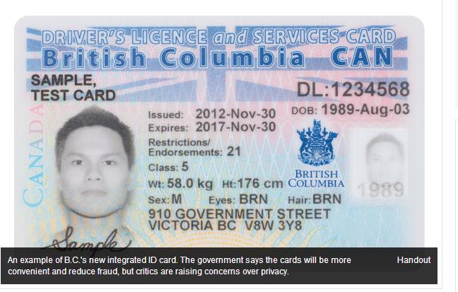 نگرانی منتقدان از انتقال اطلاعات در کارتهای هویت جدید بی سی