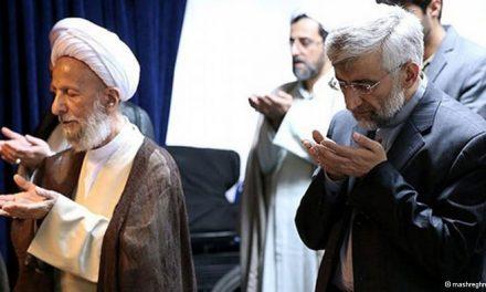 """مصباح یزدی در دیدار با سعید جلیلی او را """"فرد اصلح"""" خواند"""