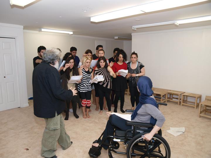 Barkhani-Bizai-109 گزارشی تصویری از تمرینات و آمادهسازی برخوانی نمایش آرش در ونکوور 
