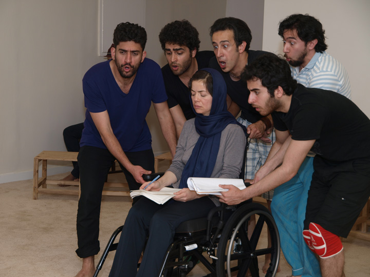 Barkhani-Bizai-148 گزارشی تصویری از تمرینات و آمادهسازی برخوانی نمایش آرش در ونکوور 