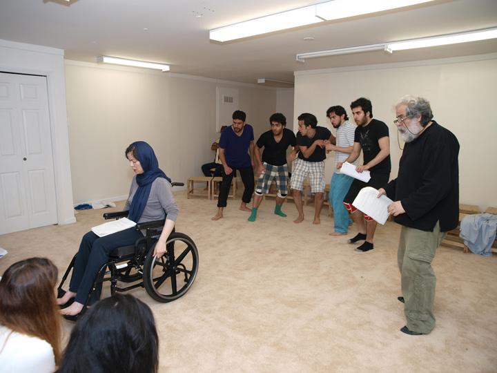 Barkhani-Bizai-155 گزارشی تصویری از تمرینات و آمادهسازی برخوانی نمایش آرش در ونکوور 