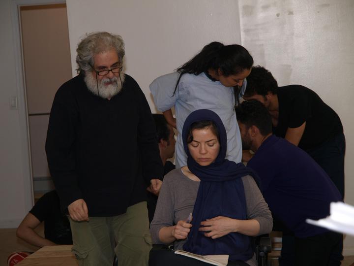 Barkhani-Bizai-26 گزارشی تصویری از تمرینات و آمادهسازی برخوانی نمایش آرش در ونکوور 