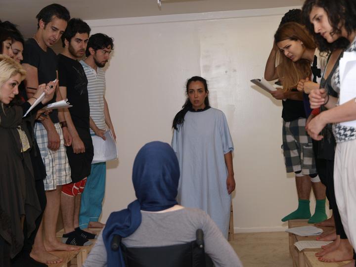 Barkhani-Bizai-51 گزارشی تصویری از تمرینات و آمادهسازی برخوانی نمایش آرش در ونکوور 