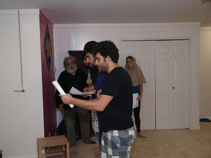Barkhani-Bizai-56 گزارشی تصویری از تمرینات و آمادهسازی برخوانی نمایش آرش در ونکوور 