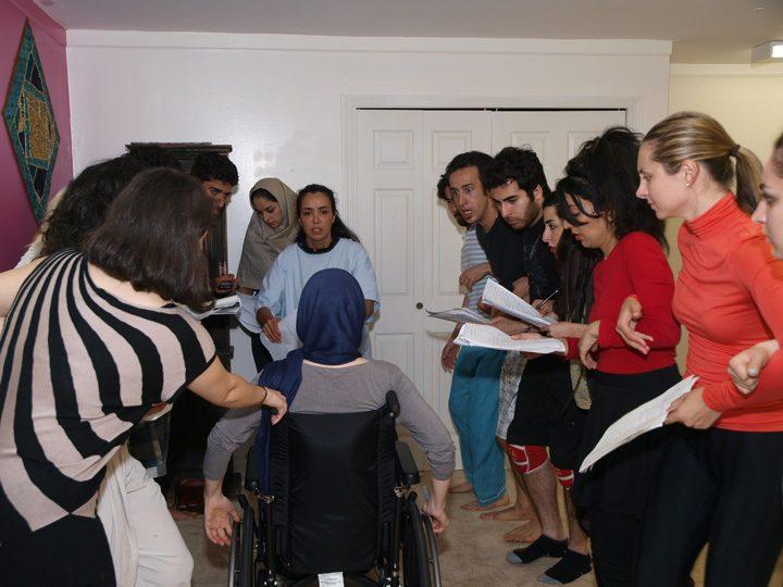 Barkhani-Bizai-65 گزارشی تصویری از تمرینات و آمادهسازی برخوانی نمایش آرش در ونکوور 
