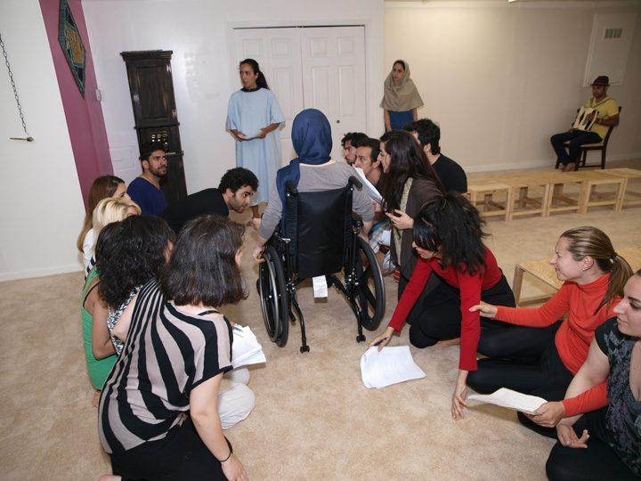 Barkhani-Bizai-71 گزارشی تصویری از تمرینات و آمادهسازی برخوانی نمایش آرش در ونکوور 