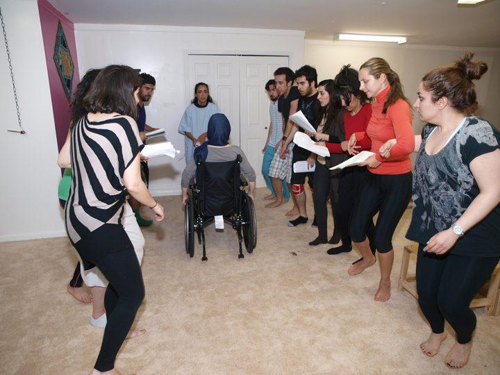 Barkhani-Bizai-73 گزارشی تصویری از تمرینات و آمادهسازی برخوانی نمایش آرش در ونکوور 
