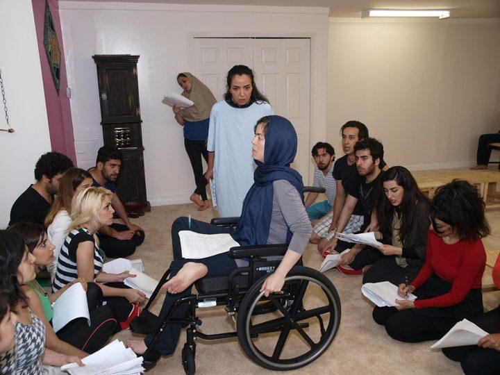 Barkhani-Bizai-78 گزارشی تصویری از تمرینات و آمادهسازی برخوانی نمایش آرش در ونکوور 