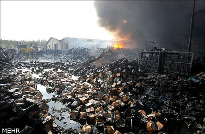 بلاتکلیفی ۱۵۰۰ کارگر پس از آتشسوزی عظیم در کارخانه گلناز