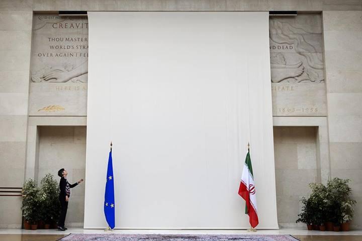 استتار مجسمه برهنه در محل برگزاری نشست ژنو به احترام هیئت ایرانی