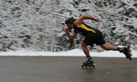 ونکوور شهر پایانی مرد اسکیتسوار در سفر دور کانادا