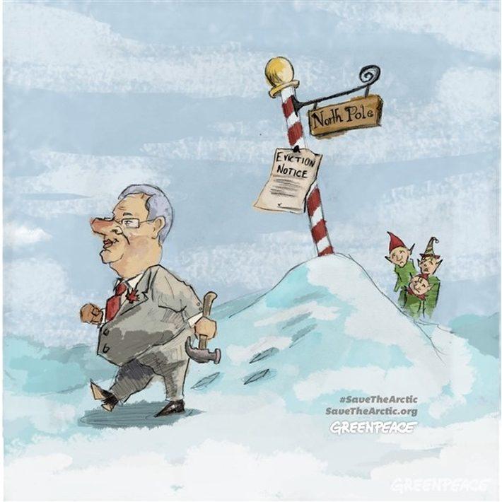 ذوب شدن یخها، بوی نفت، و ادعای مالکیت کانادا بر قطب شمال