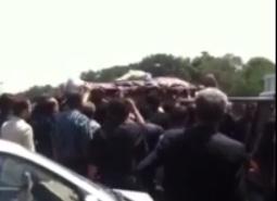 تشیع جنازه مهآفرید امیرخسروی زیر مراقبت شدید نیروهای امنیتی