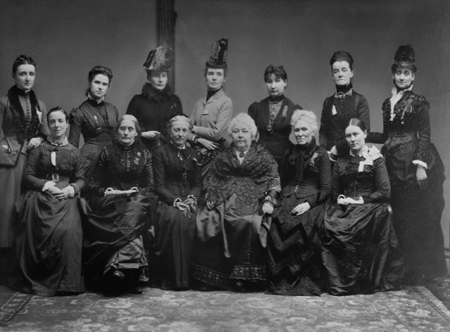EXECUTIVE COMMITTEE WHICH ARRANGED THE FIRST INTERNATIONAL COUNCIL OF WOMEN IN THE 1888, WITH THE FOREIGN DELEGATES THERE PRESENT. (ELIZ. C. STANTON,