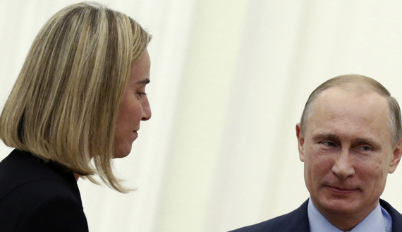 Russian President Putin meets with Italy's Minister of Foreign Affairs Mogherini at the Kremlin in Moscow