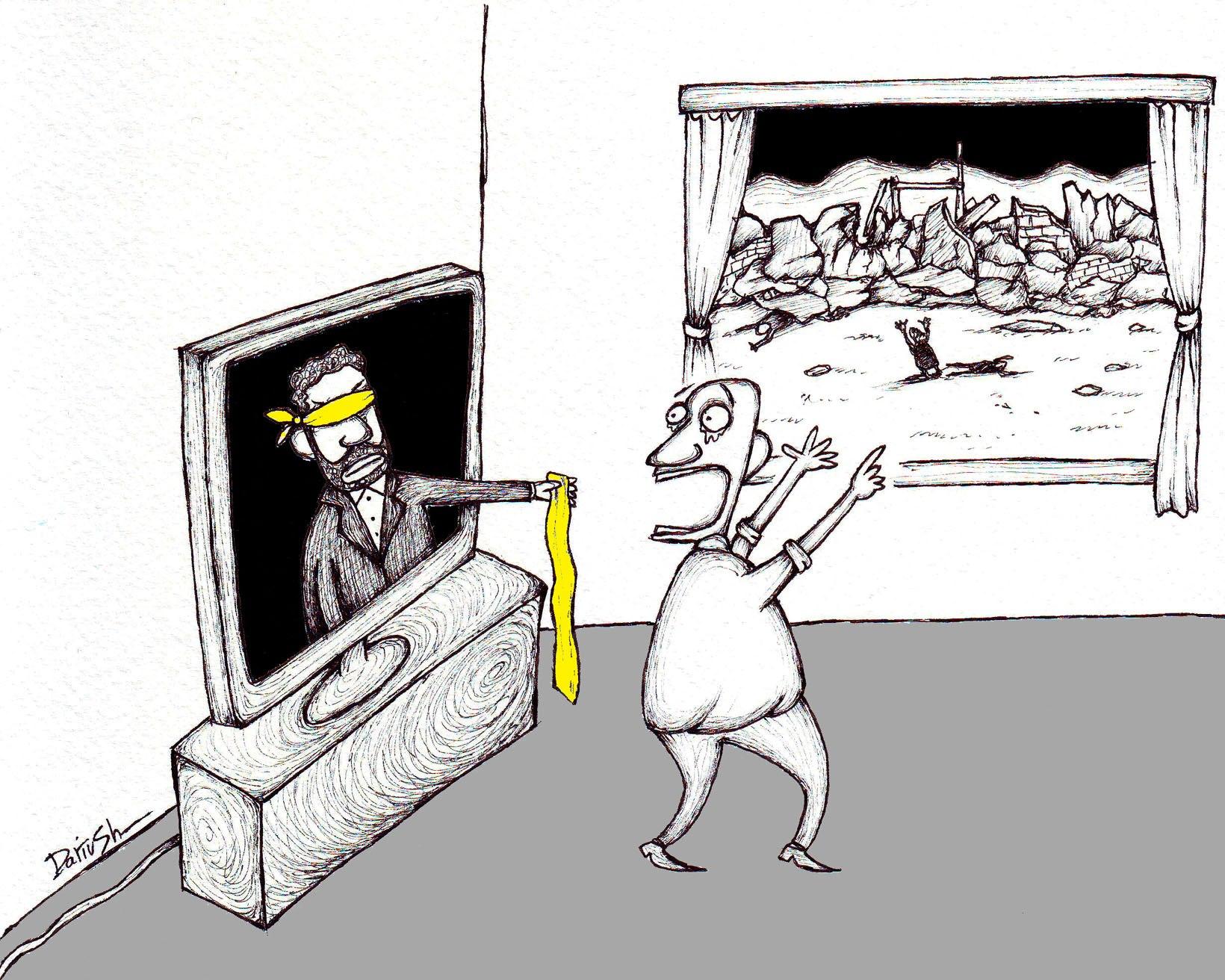 Drioush0111 کاریکاتور تازهای از داریوش رمضانی