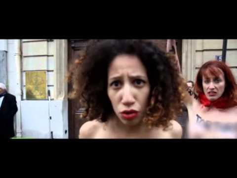 پاریس؛ این بار تجمع زنان برهنه مقابل سفارت عربستان