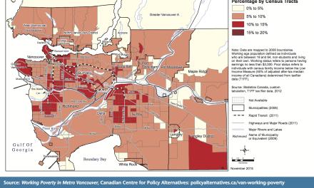 صد و پنج هزار و ششصد نفر در مترو ونکوور کار میکنند و فقیر باقی ماندهاند