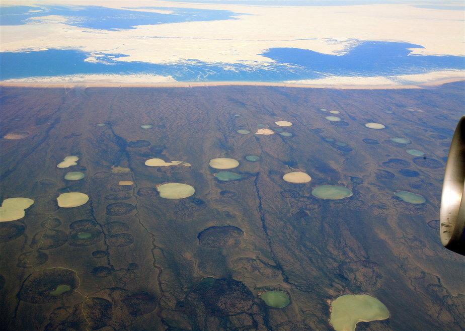 Permafrost_thaw_ponds_in_Hudson_Bay_Canada_near_Greenland