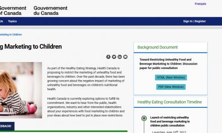 محدودیت تبلیغ غذای ناسالم بر کودکان و نوجوانان در کانادا