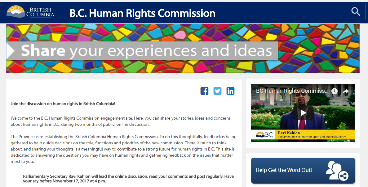 کمیسیون حقوق بشر به بریتیش کلمبیا برمیگردد