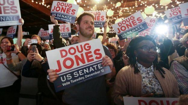 Jones supporters
