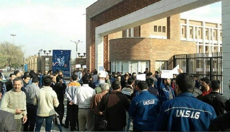 تجمع-اعتراضی-کارگران-گروه-ملی-صنعتی-فولاد-ایران-در-اهواز-برای-دومین-روز-متوالی