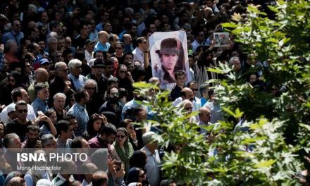 تشییع ستاره سینمای ایران به خانه ابدی