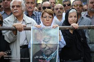 گزارش تصویری از مراسم خاکسپاری زندهیاد عزتاله انتظامی در ایران
