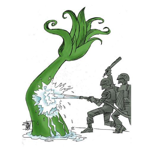 Green-Movement-and-Irans-Election-2009-513x510 آثار کارتونی افشین سبوکی در شهرگان