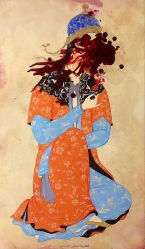 Sara-Mohammadi-Ardehali-4-296x510 برگزاری نمایشگاه «چهل تصوير متفاوت» اثر رضا دوست   هنرمند ایرانی ساکن کانادا در قطر