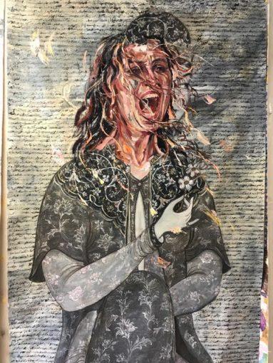 Sara-Mohammadi-Ardehali-8-383x510 برگزاری نمایشگاه «چهل تصوير متفاوت» اثر رضا دوست   هنرمند ایرانی ساکن کانادا در قطر
