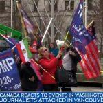 در راهپیمایی طرفداران ترامپ در ونکوور به روزنامهنگار CTV حمله شد